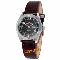 Swiss Army - SA0112L - Jam Tangan Wanita - Strap Kulit - Coklat Silver Hitam