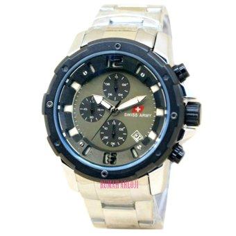 swiss army -sa2007M - Jam Tangan Pria Chrono - Stainless Steel - silver