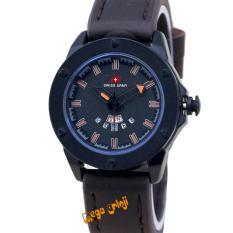 Swiss Army - SA6510L - Jam Tangan Wanita - Strap Kulit - Coklat Tua Orange