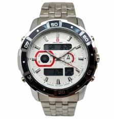 Swiss Army Sport Digital Combo - Jam Tangan Pria - Silver Stainless - Dial Putih - SA 1523 SS