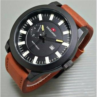 Swiss Army Watch - SA7685Z - Jam Tangan Pria - Tali Kulit - Crono Aktif -