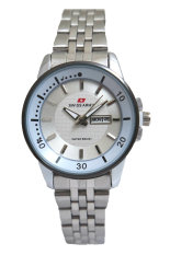 Swiss Army Women's Jam Tangan Wanita - Body + Bezel Silver - Stainless Steel Back - TW 0967 L