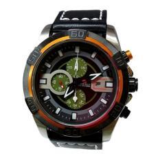 Swiss Navy Jam Tangan Pria - Leather Strap - Hitam - SN 8647 A