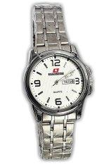 Swiss Navy Jam Tangan Wanita-Silver-Strap Stainles- 5861 Silver