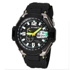 Synoke 6760.50m Waterproof Wristwatches Sport Men Watch with LED Display Green