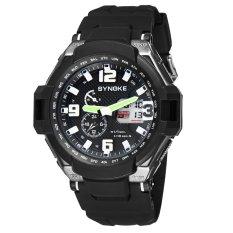 SYNOKE Fashion Multifunctional Digital Analog Dual Display Watch Water Resistant Outdoor Wrist Watch Black - Intl