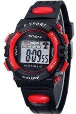 Synoke Men's BlackRubber Strap Watch