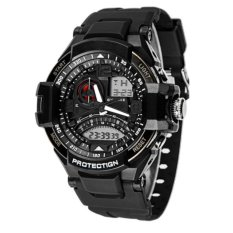 synoke pria jam tangan olahraga militer tahan air analog digital led multifungsi waterproof sports men watch