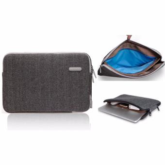 Teiton Tas Laptop Waterproof Bag Sleeve Zipper for Macbook Air,Retina,Pro 11 12 13 Minimalis Simpel Elegan - Grey