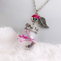 The New Fashion Boutique Glass Dried Necklace DIY Long Necklace Decorated With Sweater Chain - Ca143-F - Intl