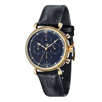 Thomas Earnshaw GRAND CALENDAR ES-8052-02 Men's Black Genuine Leather Strap Watch