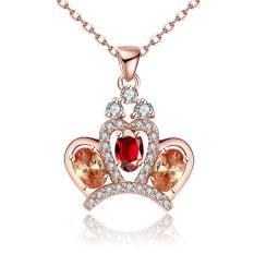 Tiaria N117-B Zircon Necklace Fashion Jewelry Necklace Aksesoris Kalung Lapis Emas 18K