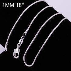 Tiaria Tiaria C008-18 Fashion Different Sizes Silver Snake Chain Aksesoris Kalung Lapis Emas 18K - Silver (Silver)