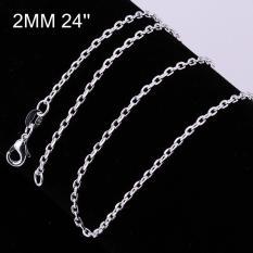 Tiaria Tiaria C012-18 Fashion Different Sizes Silver Snake Chain Aksesoris Kalung Lapis Emas 18K - Silver (Silver) (Silver)
