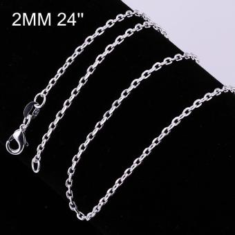 Tiaria Tiaria C012-18 Fashion Different Sizes Silver Snake Chain Aksesoris Kalung Lapis Emas 18K - Silver (Silver) (Silver)