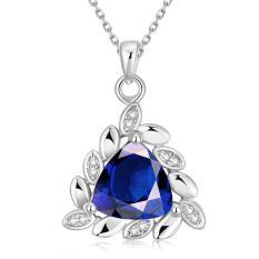 Tiaria Tiaria N0101-C Zircon Necklace Fashion Jewelry Necklace Aksesoris Kalung Lapis Emas 18K - Silver (Silver)