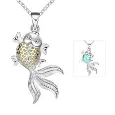 Tiaria Tiaria N018-B 2016 Fashion Popular Noctilucent Necklace Aksesoris Kalung Lapis Emas 18K - Silver (Silver)