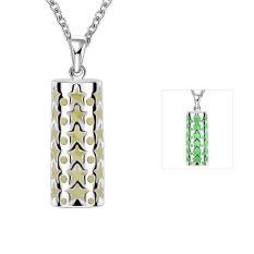 Tiaria Tiaria N035-A 2016 Fashion Popular Noctilucent Necklace Aksesoris Kalung Lapis Emas 18K - Silver (Silver) (Silver)