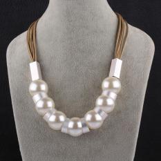 Tiaria Tiaria N063-A Jewelry Fashion Pearl Necklaces For Women Fashion Big Star Metal Necklaces Aksesoris Kalung Lapis Emas 18K - Silver (Silver) (Silver)