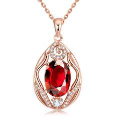 Tiaria Tiaria N096-B Zircon Necklace Fashion Jewelry Necklace Aksesoris Kalung Lapis Emas 18K - Silver (Silver) (Silver)