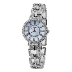 TIME100 Fashion Diamond Skeleton Roman Numerals Silver Bracelet Ladies Quartz Watch W50220L.01A (Intl)