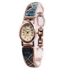 TIME100 Fashion Retro Oval Dial Rose Golden Bracelet Ladies Watch W50129L.02A