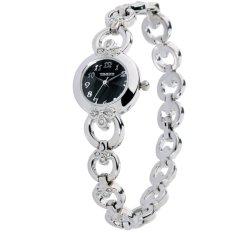 Time100 Ladies' Clover Diamond Black Dial Fashion Bracelet Watch W50053L.02A (Intl)