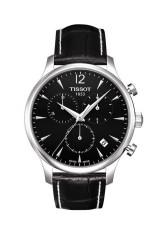 TISSOT Tradition Chronograph Jam Tangan Pria T0636171605700 - Leather - Black