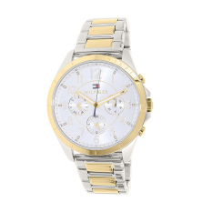 Tommy Hilfiger Watch Silver Stainless-Steel Case Two-Tone-Stainless-Steel Bracelet Ladies NWT + Warranty 1781607