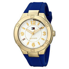 Tommy Hilfiger Women's 1781443 Gold-Tone Watch With Blue Band - Intl
