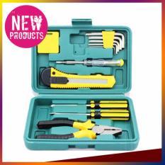 Tool Kit Set 11 in 1 Obeng,Tang,Cutter,Obeng Tester,Meteran,Kunci L