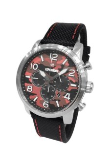 Triple 8 Collection - Expedition 6672MCNSSRE Silver Hitam - Jam Tangan Pria