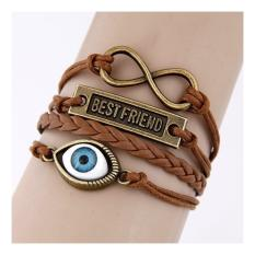 TTULAROO Leather Rope Multilayer Charm Bracelet Bangle