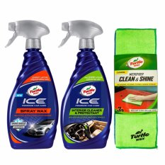 Turtle Wax - Paket Maintanence - Ice Spray Wax + Ice Interior Cleaner & Protectant + Microfiber Clean & Shine