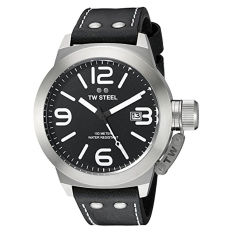 TW Steel Men's CS2 Stainless Steel Watch With Black Leather Band - Intl