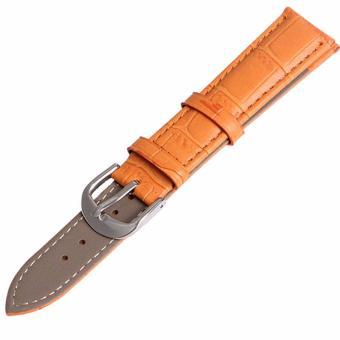 Twinklenorth 12mm Orange Genuine Leather Watch Strap Band - intl