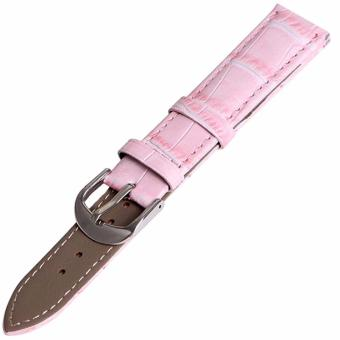 Twinklenorth 12mm Pink Genuine Leather Watch Strap Band - intl