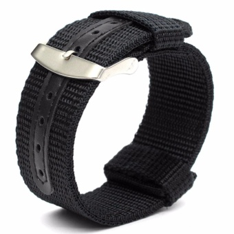 Twinklenorth 18mm Black Nylon Nato Strap Nylon Military Watch Band Strap Watchband NATO-039 - intl