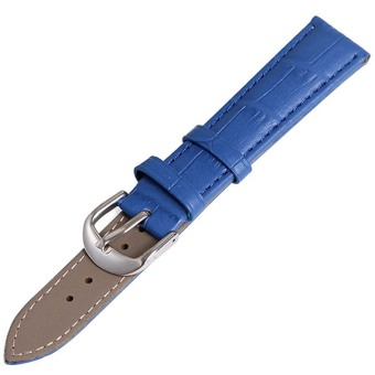 Twinklenorth 18mm Blue Genuine Leather Watch Strap Band