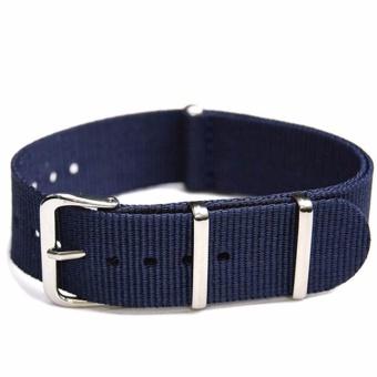 Twinklenorth 20mm Dark Blue Nylon Nato Strap Nylon Military Watch Band Strap Watchband NATO-043 - intl