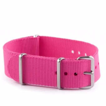 Twinklenorth 20mm Pink Rose Nato Strap Nylon Military Watch Band Strap Watchband NATO-029 - intl