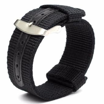 Twinklenorth 22mm Black Nylon Nato Strap Nylon Military Watch Band Strap Watchband NATO-041 - intl