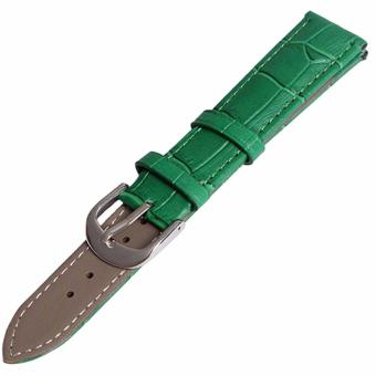 Twinklenorth 22mm Green Genuine Leather Watch Strap Band - intl