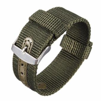 Twinklenorth 22mm Green Nylon Nato Strap Nylon Military Watch Band Strap Watchband NATO-054 - intl