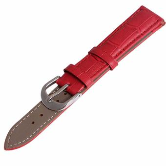 Twinklenorth 24mm Red Genuine Leather Watch Strap Band - intl