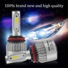 UINN 2Pcs Plug & Play COB LED Headlight 72W 8000LM Car LED Headlights Head Lamp - intl