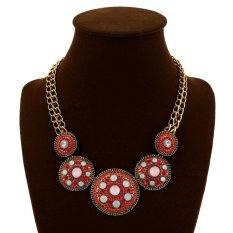 UJS Fashion Jewelry Necklace Vintadiamond Pendant Necklace Round