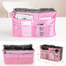 Ultimate Korean Bag in Bag Organizer IM OR 20-01 / Korean Travel Pouch - Light Pink