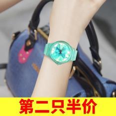 Ulzzang Korea Fashion Style Gadis Siswa Cerdas Kebugaran Menonton Elektronik Jam Tangan