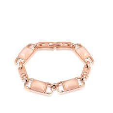Unique Design Chewing Gum Opal Rose Gold Plated Women Girls Engagement Gift Jewelry Bracelet (Rose Gold Color)